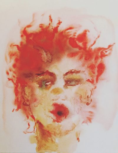Rotschopf, Portrait – Aquarell