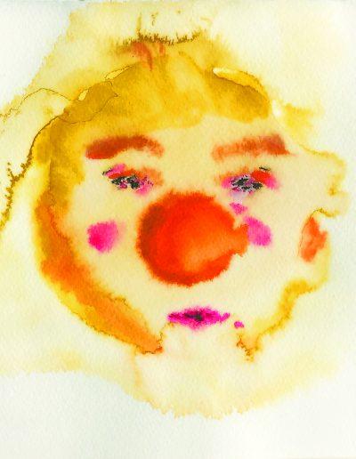 Ein-Ohr-Clown – Aquarell